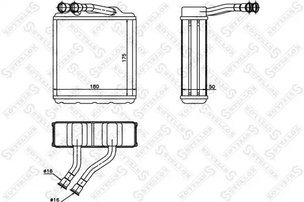 Радиатор печки STELLOX 1035217SX