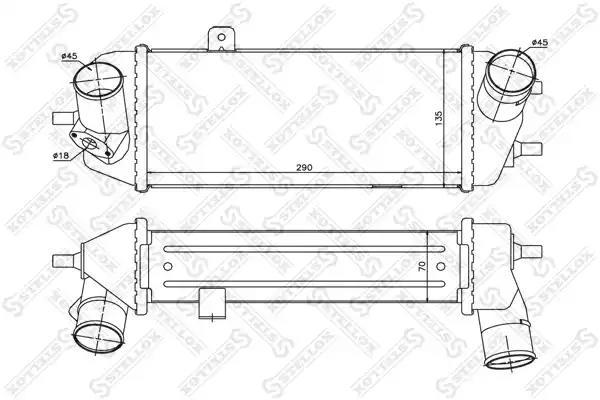 Интеркулер STELLOX 1040022SX