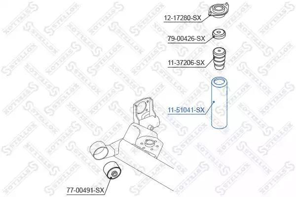 Пыльник амортизатора STELLOX 1151041SX