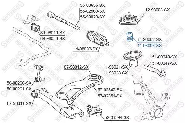Тарелка пружины STELLOX 1198003SX