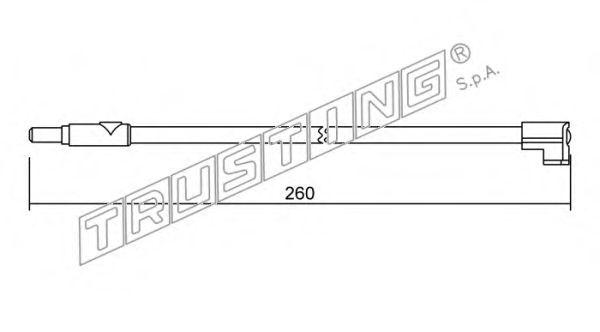 Датчик износа тормозных колодок TRUSTING SU116