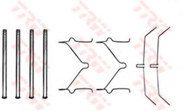 Скобы тормозных колодок TRW PFK208