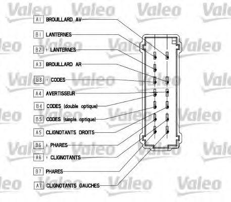 Кнопка стеклоподъемника VALEO 251562