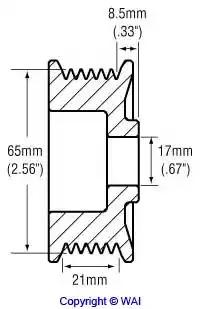 Шкив генератора WAI 2482260