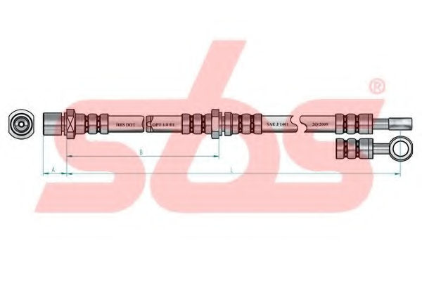 Тормозной шланг sbs 1330854402
